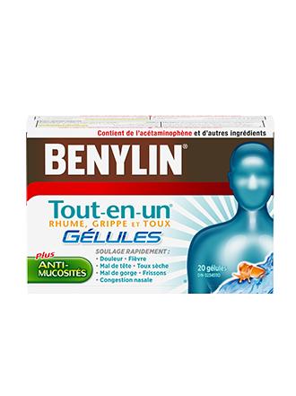 Benylin Tout-en-un Rhume, grippe et toux, 20 gélules