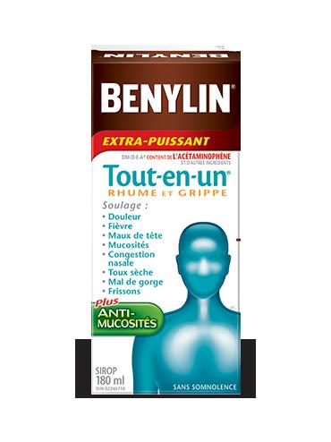 Sirop BENYLIN® Tout-en-un® RHUME ET GRIPPE