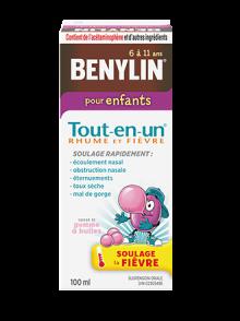 Benylin Tout-en-un Rhume et fièvre, sirop pour enfants, 100 ml