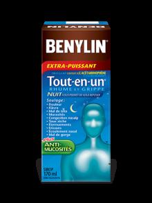 Sirop BENYLIN® Tout-en-un® RHUME ET GRIPPE, NUIT
