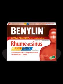 Comprimés BENYLIN® EXTRA-PUISSANT Rhume et sinus Jour/Nuit